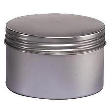 8 Oz Seamless Deep Body Tin with Screw on Lids - Set of 4