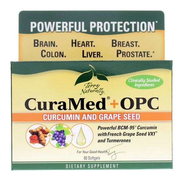 CuraMed®+OPC - 60 Softgels - Terry Naturally
