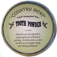 """Country Gent"" Tooth Powder in Tin, 3 oz"
