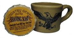 Ceramic Shaving Mug with Shaving Soap