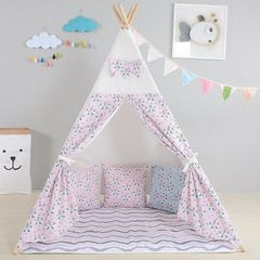 Wigwam - Pink and white with ground sheet