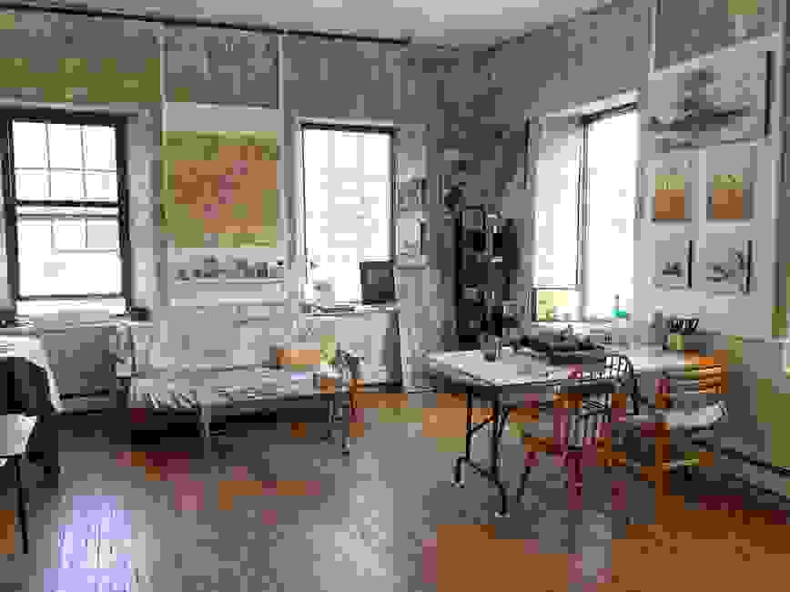 The Hive encaustic studio set up for encaustic classes and workshops