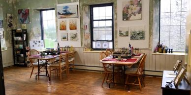 most encaustic classes and workshops take place out of the hive encaustic studio.