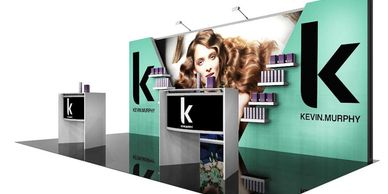 20' back lit trade show booths Houston. Trade show exhibits to create a Brand marketing presence.