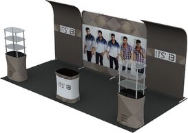 20' Trade Show Displays in Houston  713-849-9290. Light weight trade show Displays & kiosks.Branding
