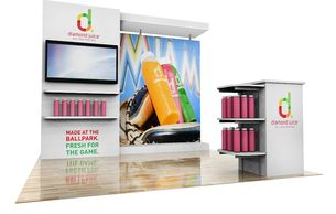 Trade show exhibits Houston TX, 10-foot trade show displays, trade show rental displays Houston TX