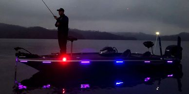Northwoods Brands installs Rub Rail Boat Lighting Systems to your boat and kayak