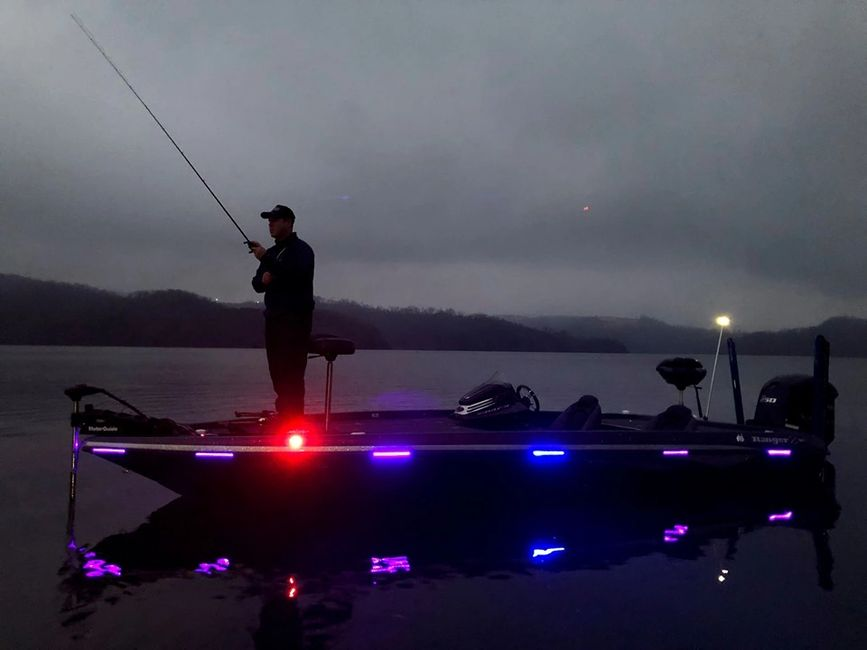Northwoods Brands installs Rub Rail Lighting Systems to your boat or kayak.