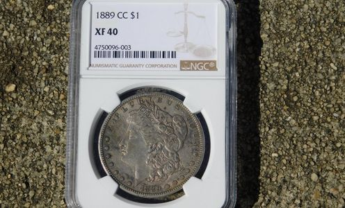 rare key date 1889-CC Morgan Silver Dollar NGC XF40 Condition Carson City Mint 1889 Silver Dollar circulated