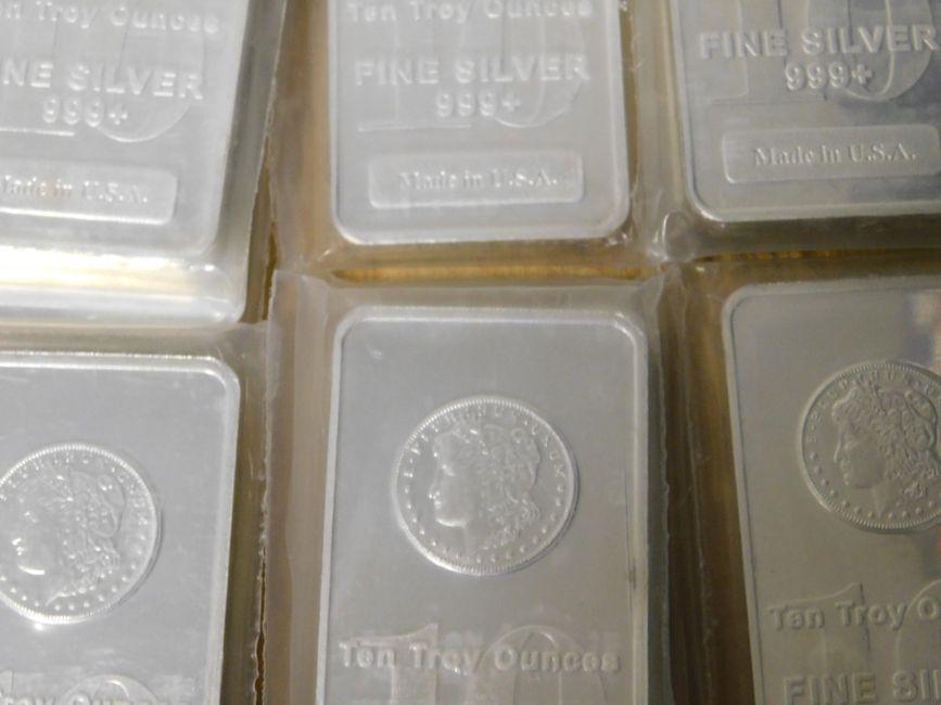 new 10 oz .999 fine silver bars