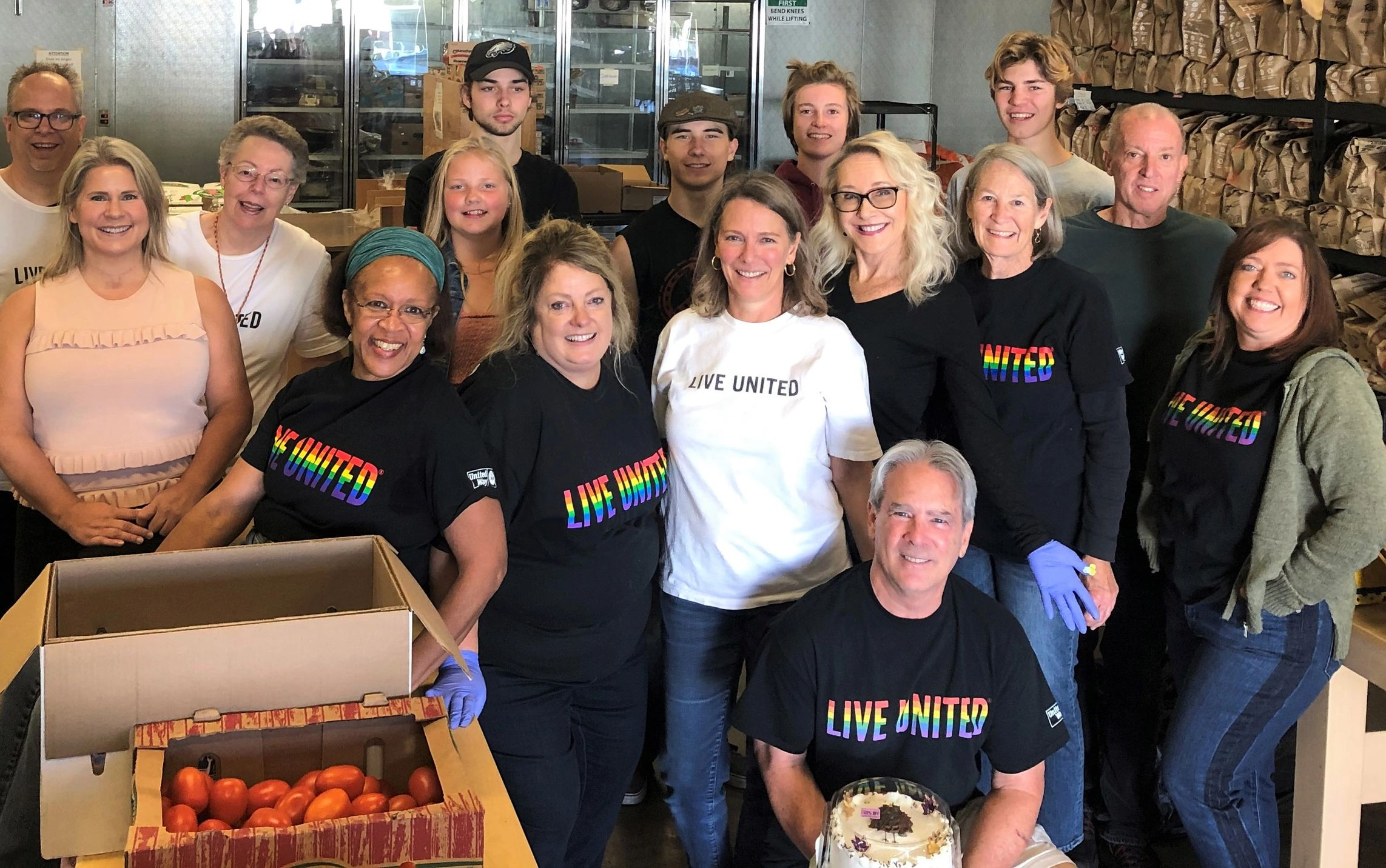 United Way of Nevada County, volunteers, food bank