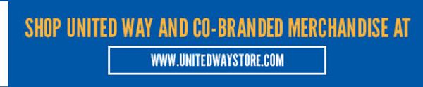 United Way store, branded merchandise