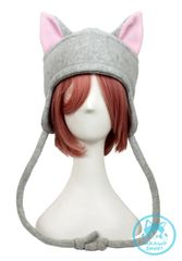 Nyan Light Gray Fleece Cat Hat