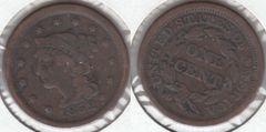 NICE FINE 1852 LARGE CENT