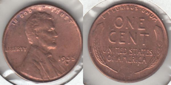 GORGEOUS BU 1935S LINCOLN CENT