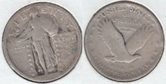 SCARCE 1918D LIBERTY STANDING QUARTER READABLE DATE