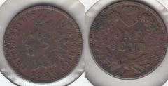 1885 INDIAN CENT SHARP XF DETAIL