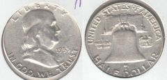 NICE AU 1953 FRANKLIN HALF DOLLAR