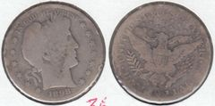 1898S BARBER HALF DOLLAR BETTER DATE