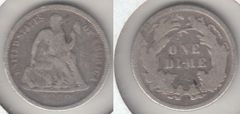 NICE FINE 1869 SEATED DIME BETTER DATE