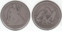 1859O SEATED HALF DOLLAR BETTER DATE