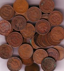 CIRC ROLL OF 50 INDIAN CENTS