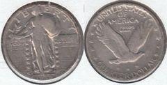 NICE VF 1928D LIBERTY STANDING QUARTER