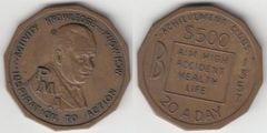 NEAT PMA MEDAL ABOUT HALF DOLLAR SIZE