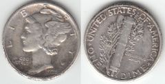 XF 1925S MERCURY DIME SCARCE IN THIS GRADE