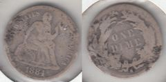 SCARCE DATE 1884S SEATED DIME