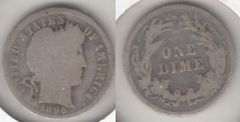 1896 BARBER DIME BETTER DATE