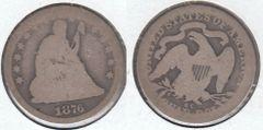 1876CC SEATED QUARTER