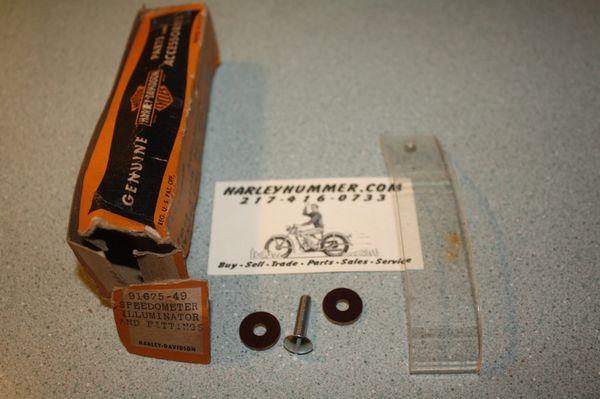 NOS 91675-49 Harley 125 Speedometer Illuminator