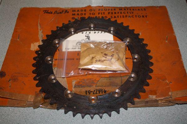 NOS 41477-51 Rear Sprocket 47 Tooth