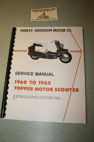 Harley Davidson Topper Service Manual 1960 1961 1962