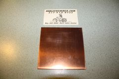 """Copper Head Gasket Material .032"""" 4"""" x 4"""""""