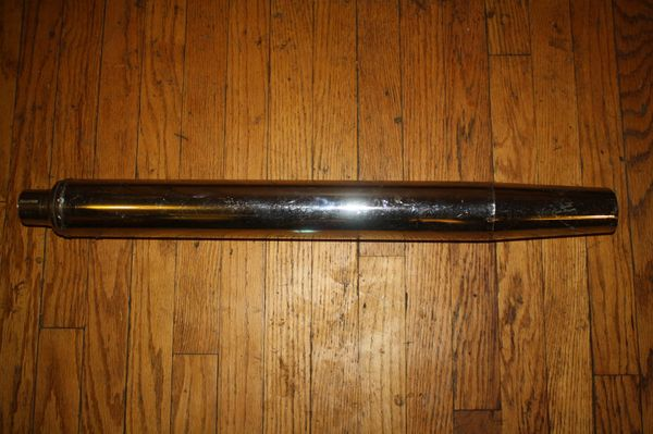 NOS 65241-64A NEW OLD STOCK CHROME MUFFLER
