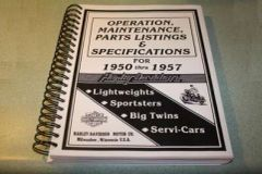 Operation, Maintenance,Parts Listings and Specifications Book