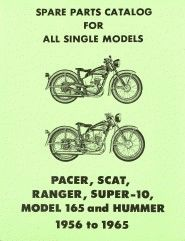99452-65 Parts Catalog Manual Book for the 1956 - 1965 models