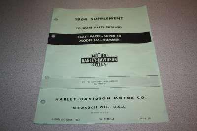 99452-64 1964 Parts Catalog Supplement