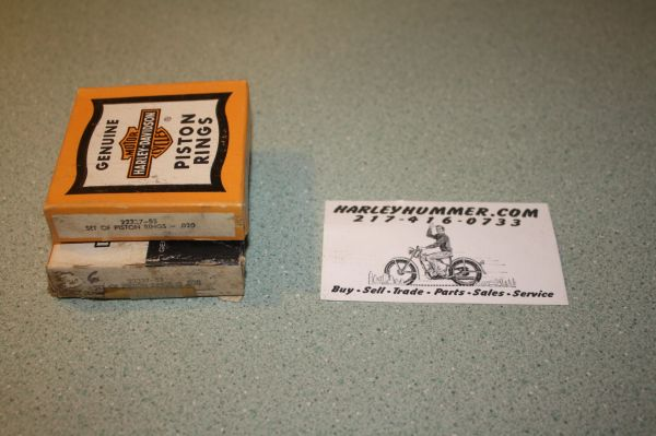 NOS 22337-53 Piston Ring Set Harley 165 .020""