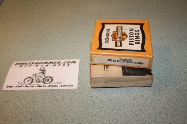 """NOS 22338-53 .030"""" Piston Ring Set Harley 165"""