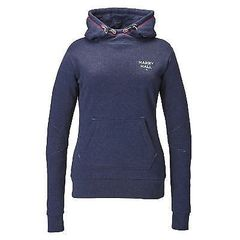 Harry Hall Womens Orrell Hoody in Navy Size 16