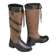 Harry Hall Long Country Rio Boots in Brown Size UK4