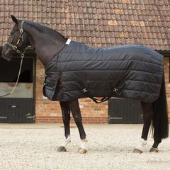 JHL Stable Rug Lightweight Black/Burgundy 5'6""