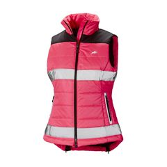 Harry Hall Womens Hi Viz Gilet in Pink Size 12