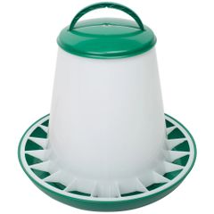Eton TS Range 6lt Poultry Drinker and 6kg Feeder in Green/White Set
