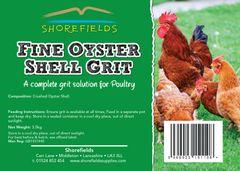 Shorefields Fine Oystersehll Grit 3.5kg