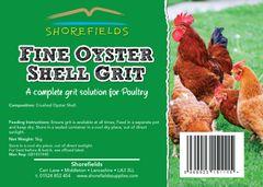 Shorefields Fine Oystershell Grit 5kg