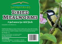 Shorefields Dried Mealworms 1kg